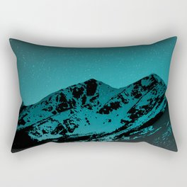 Mountains at night series II // Boulder Colorado Rectangular Pillow