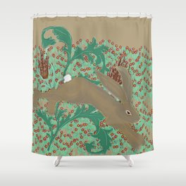 Rabbit in the Pimpernels Shower Curtain