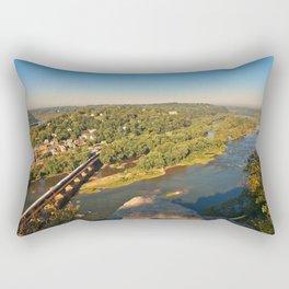 Harpers Ferry & Potomac River Overlook Rectangular Pillow