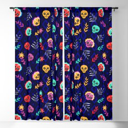 Fiesta Skulls #society6 #skulls Blackout Curtain