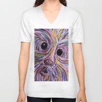 schnauzer V-neck T-shirts featuring Schnauzer by EloiseArt