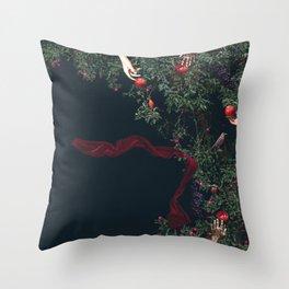 Garden Of Eden - Digital Collage Throw Pillow