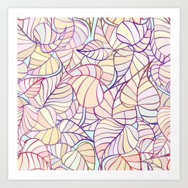 leafs color pattern Art Print