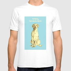 Labradorable Mens Fitted Tee White SMALL