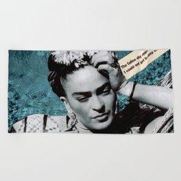 Tribute to Frida Kahlo #26 Beach Towel