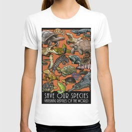 Save Our Species: Vanishing Reptiles of the World T-shirt