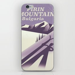 Pirin Mountains Bulgaria Ski iPhone Skin