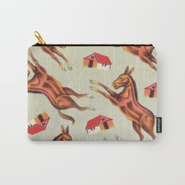 Kitsch Leaping Ponys Carry-All Pouch