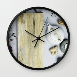spa and relaxation background Wall Clock