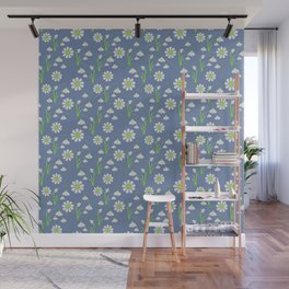 Snowdrop Galanthus vector seamless pattern Wall Mural