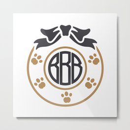 dog monogram Metal Print
