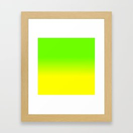 Neon Green and Neon Yellow Ombré  Shade Color Fade Framed Art Print