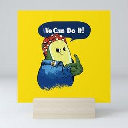 Vegan do It Avocado Mini Art Print