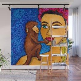 Bali Monkey Love Wall Mural