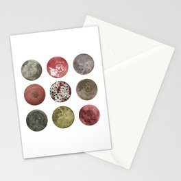 Abstract Planets in Pastel Earthy Tones Stationery Cards