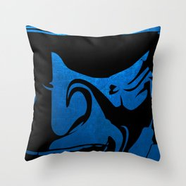 Samurai Head 01 Throw Pillow