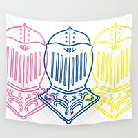 knight Wall Tapestries featuring Knight by taichi_k