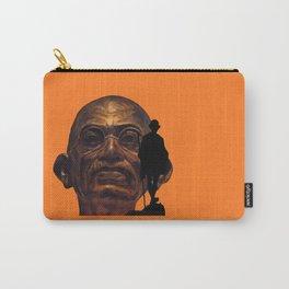 Gandhi - the walk - orange version Carry-All Pouch