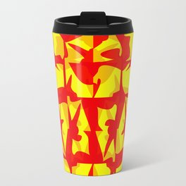 red shapes Travel Mug