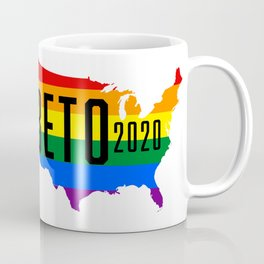 Beto 2020 GLBT / LGBT Rainbow Flag: Beto Orourke For President Campaign Coffee Mug