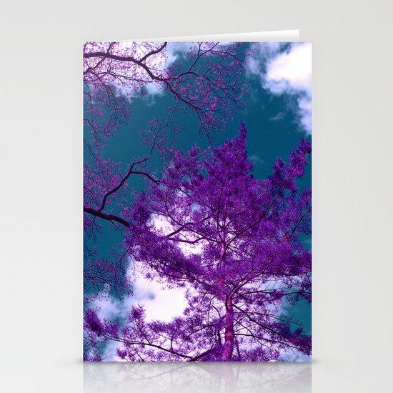 purple fir-tree II Stationery Cards