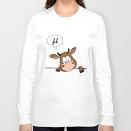 Cow Art for Women and Men Cattle Farmer Rancher Light Long Sleeve T-shirt