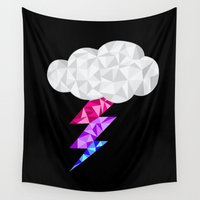 bisexual Wall Tapestries featuring Bisexual Storm Cloud by Casira Copes