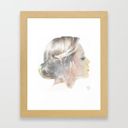 it's all about whether you hear your heart Framed Art Print