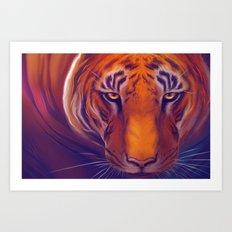 Solar Tiger Art Print