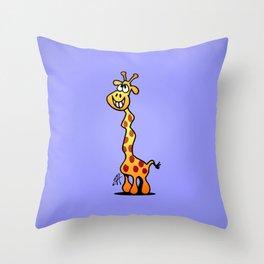 Joyfull Giraffe Throw Pillow