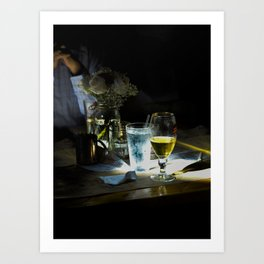 Across the room Art Print