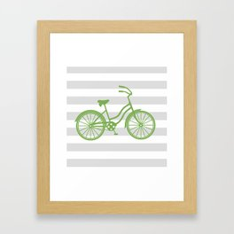 kermit bike Framed Art Print