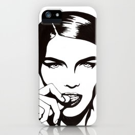 In Black & White III iPhone Case