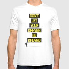 Dreams Be Dreams White MEDIUM Mens Fitted Tee