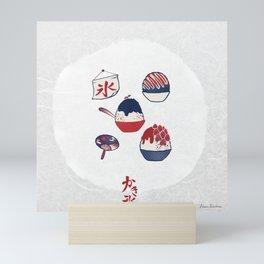 Kakigori / Shaved Ice (かき氷) Mini Art Print