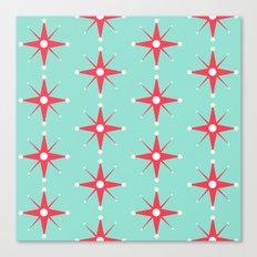 Retro Red Stars Canvas Print
