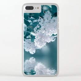 Lilacs blue 092 Clear iPhone Case