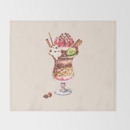Chocolate Parfait Throw Blanket
