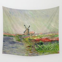 Monet, Tulip Field in Holland, 1886 Wall Tapestry
