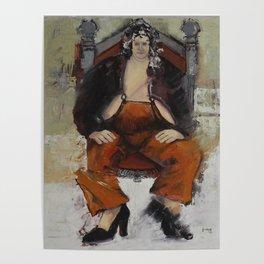 Andrea Dawkin in orange Poster