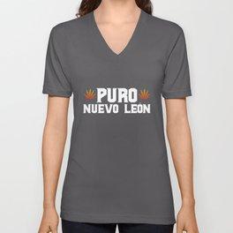 Nuevo León Mexico - Puro Nuevo León Marihuana Unisex V-Neck