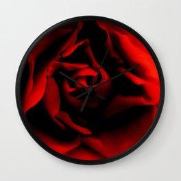 Passionate rose Wall Clock