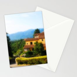 Sunny day in  Barga Stationery Cards