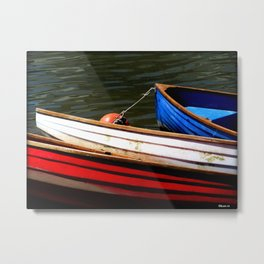 Red Boat,White Boat,Blue Boat. Metal Print