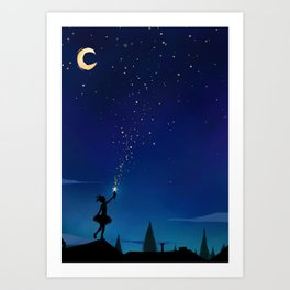 Shooting Star Page 2 Art Print