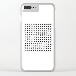 Scribble Dots Clear iPhone Case
