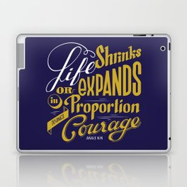 Life shrinks or expands... Laptop & iPad Skin