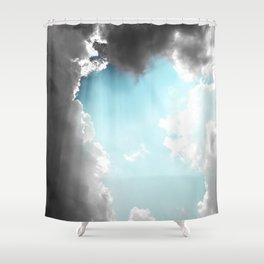 Technicloudy Shower Curtain