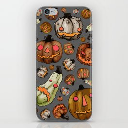 Halloween Pumpkins, a Cornucopia of Jack o' lanterns. spoopy iPhone Skin