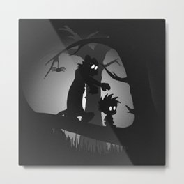 calvin and hobbes limbo Metal Print